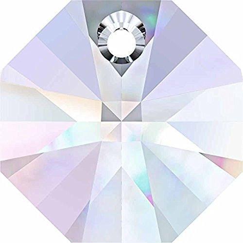 6401 Swarovski Pendant Octagon | Crystal AB | 8mm - Pack of 6 | Small & Wholesale Packs | Free ()