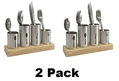 Sorbus Silverware Holder with Caddy for Spoons, Knives Forks, etc Ideal for Kitchen, Dining, Entertaining, Buffet, Picnic, and more â€