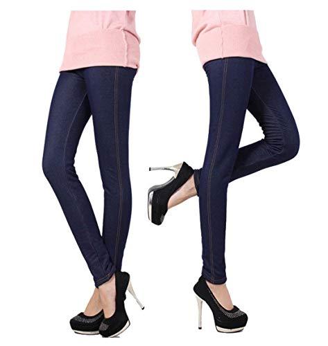 Alta Ropa Slim Bolsillos Elástica Fur Fit Faux Pantalones De Blau Mujeres Lápiz Las Jeans Delanteros Mezclilla Adelina Cintura 6Pdq0xgw6