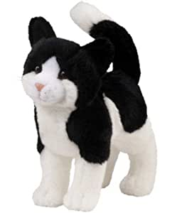 plush stuffed animal black and white cat toys games. Black Bedroom Furniture Sets. Home Design Ideas