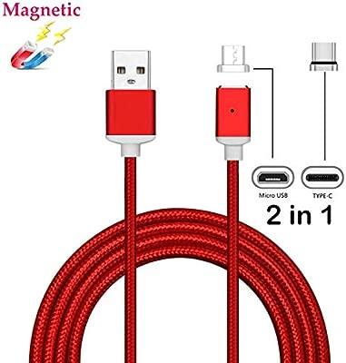superior ZRL Cable magnético micro USB, nylon trenzado Fast Sync cable cargador rápido USB a micro USB 2,0 Android cable de carga para Android, ...