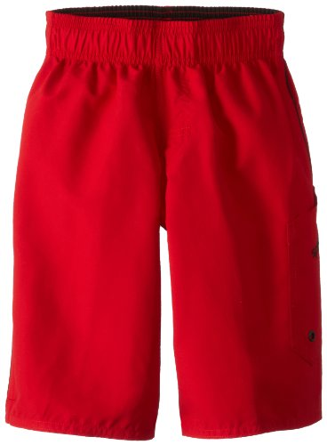 Speedo Big Boys' Marina Volley Swim Trunk, Red Bluff, Small ()
