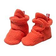 Zutano Unisex Baby Cozie Fleece Bootie, Mandarin, 18 Months