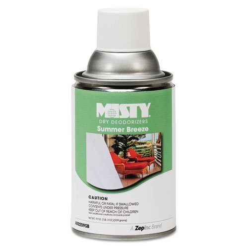 - Misty Metered Dry Deodorizer Refills, Summer Breeze, 7oz, Aerosol