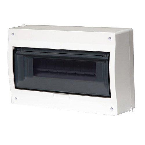 Sicherungskasten Kleinverteiler IP40 Aufputz 12 Module 1-reihig inkl. Hutschiene und PE-/N-Klemmen Control LUX-PLUS Kolor
