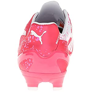 PUMA Women's Evo Speed 3.3 PK Firm Ground Soccer Shoe,Camellia Rose/Fluorescent Pink/White,7 B US