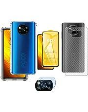 Capa Capinha Xiaomi Poco X3 + Pelicula Vidro 3d + Pl Traseira + Camera - (C7COMPANY)