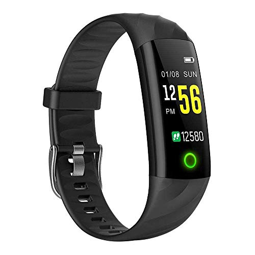 Activity Watch, Wear Comfortable Lightweight Bluetooth Band with Multi Health Functions Heart Rate/Sleep Monitor Pedometer Remote Photography Better Care Your Family (Black) Boens ()