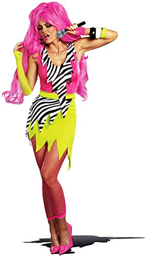 Dreamgirl Women's 80's Punk Glam Gem Jagged Rock Star DIY Costume, Multi, (80's Halloween Costume Diy)
