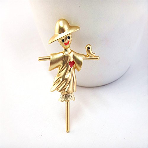 Qingdao Europe and Ja and South Korea personalized fashion style clothing with jewelry cute love Rye scarecrow brooch women girls female ()