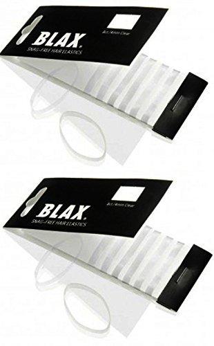 Blax Clear Snag-Free Hair Elastics - 4mm 2 Pack……