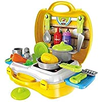Kids Dukaan Ultimate Kid Chef Bring Along Kitchen Cooking Suitcase Set (26 Pieces)