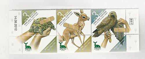 (Israel, Postage Stamp, 1960 Strip Mint NH, 1960 Animals (p))
