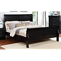 Major-Q Sh52318t Antique Black Finish Twin Size Bed