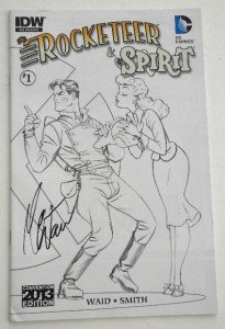 New SIGNED Mark Waid SDCC 2013 Exclusive The Rocketeer/The Spirit: Pulp Friction