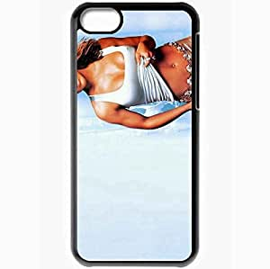 Personalized iPhone 5C Cell phone Case/Cover Skin Alyssa Milano Alyssa Milano Actors Black