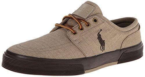 Polo Ralph Lauren Hombres Faxon Low Fashion Ripstop Sneaker Tan / Marrón Oscuro / Marrón Oscuro