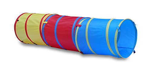 GigaTent 6 Foot Pop Up Kids Play Tunnel - 3 in 1 Hide and Seek Tube for Babies, Toddlers, Dogs and Pets - Indoor or Outdoor Adventure, Folds Flat, Carrying Bag Included