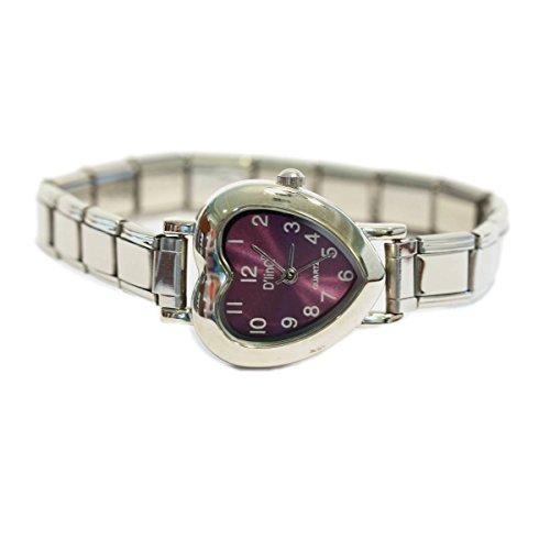 NewCharms Purple Heart Italian Charm Watch ()