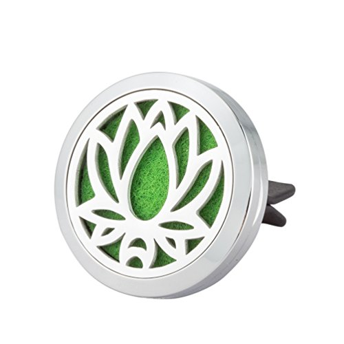 Blue Moon Beads Wholesale (Jenia Car Air Freshener Essential Oil Aromatherapy Vent Diffuser Locket With Clip Premium Stainless Steel)
