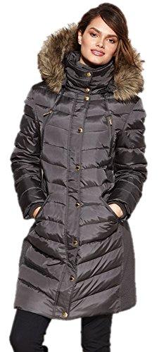 Michael Khors Women's Faux-Fur-Trim Down Puffer Coat, US - Khor Michael