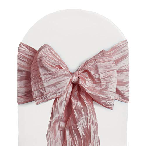 (Your Chair Covers - Crinkle Taffeta Chair Sashes Blush (Pack of 10), Chair Sashes for Weddings, Events, Hotels and Catering Services)