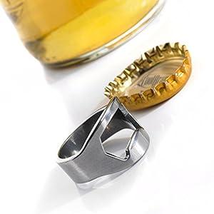 Bottle Opener Key Ring Keychain Metal Bar Tool Cute Beer
