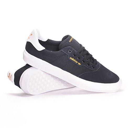 adidas Skateboarding Men's 3MC Black/White/Black Suede 11.5