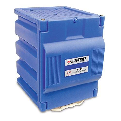 Justrite 24080 Countertop Safety Acid Cabinet, (2) 4L Bottles, Blue