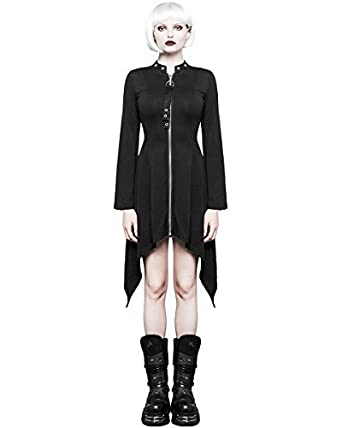 1f7caccf979f Punk Rave Femmes Gothique Robe Noire Punk Dieselpunk sorcière Occulte  Manches Longues - Noir, XS