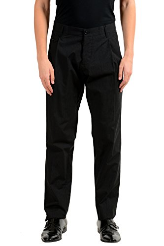 Dolce & Gabbana Men's Striped Pleated Dress Pants US 30 IT (Dolce & Gabbana Striped Suit)