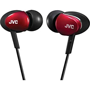 JVC HAFX67R Headphone, In-Ear, Red (Discontinued by Manufacturer)