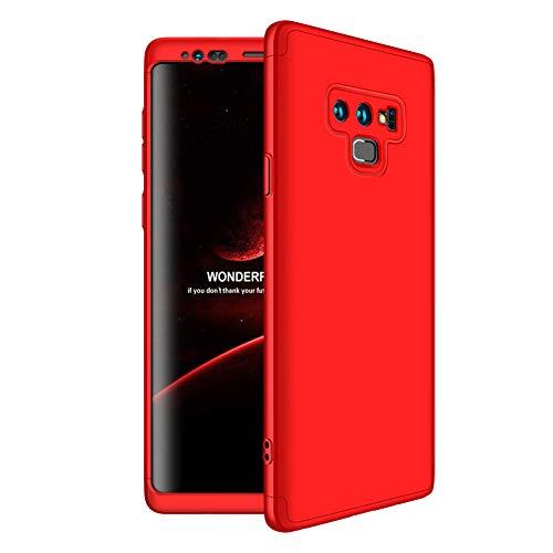 Coque Samsung Galaxy Note 9 360 Protection Intgrale Premium PC Bumper 3 en 1 Ultra Mince Ultra Lger Anti-Choc Anti-Scratch Etui Housse pour Galaxy Note 9 Case Rouge