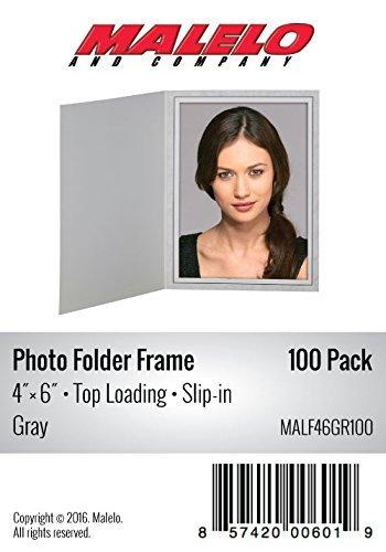 Cardboard Photo Folder Frame 4x6 - Pack of 100 - Gray