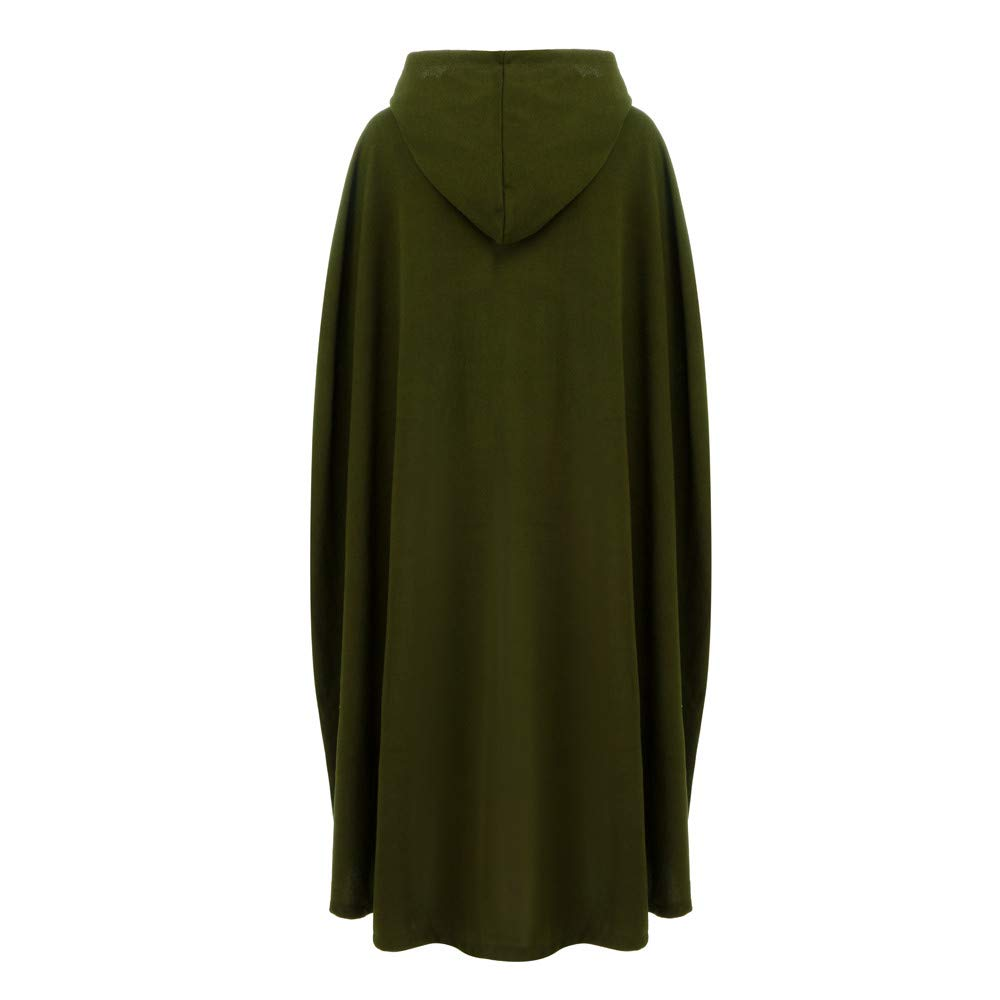 Halloween Cosplay Costumes Party Capes Unisex Christmas Day Hooded Cloak Medieval Cape (Army Green B, L) by Hotcl (Image #4)