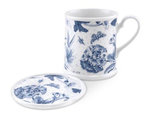 Botanic Blue Mug Tankard and Coaster Set ()