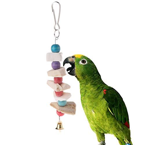 (Bird Toys - Parrot Teeth Grinding Toys Bird Squirrel Cuttlefish Bone Chewing Beads With Bell Du - Cage Parakeets Perches Balls Pinata Ladder Mimic Hanging Parts Parakeet Banana Parrots Talkin)
