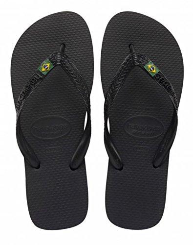 Havaianas Brasil, Unisex Adults' Flip Flops, Black (Black 0090), 9/10 UK (43/44 Brazilian) (45/46 EU)