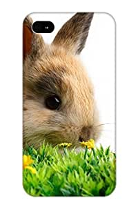 Case For Iphone 4/4s Tpu Phone Case Cover(animal Rabbit) For Thanksgiving Day's Gift hjbrhga1544