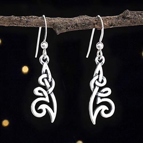 (Sterling Silver Celtic Flower Knot Earrings - Small, Double Sided - Solid .925 Sterling Silver, Ready to Ship)