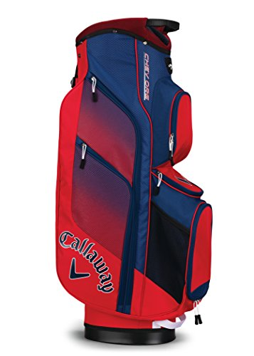 Callaway Golf 2018 Chev Org Cart Bag, Red/ Navy/ White