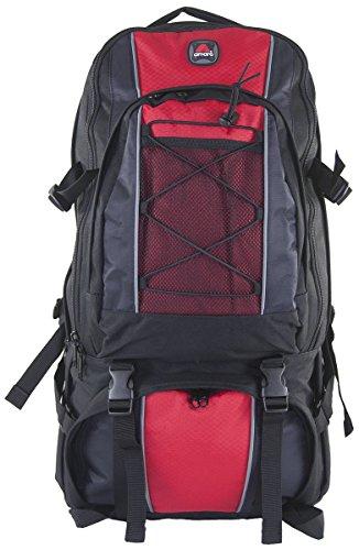 - Amaro 22004 Sahara Backpack Jumbo Oversize Hiking Travel Daytrip Backpack (Red)