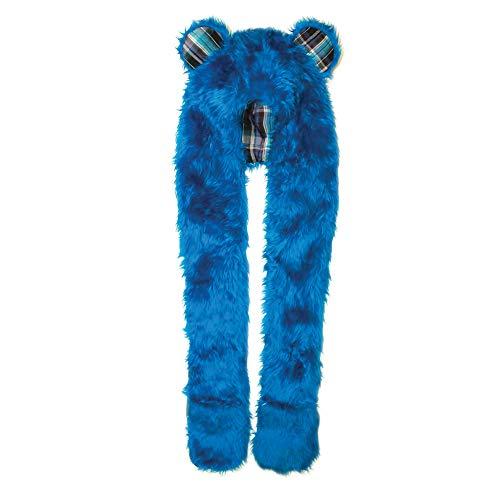 City Hunter H100 Halloween Costumes Winter Scarves Animal Faux Fur Hoodie Scarf - Royal Bear ()