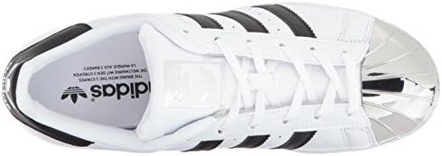 adidas Originals Women's Superstar Metal Toe W, Ftwwht/Cblack/Silvmt, 6.5 Medium US