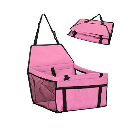- Pet Dog Carrier Pad Waterproof Dog Seat Bag Basket Pet Products Safe Carry House Cat Puppy Bag Dog Car Seat,Pink,45X30X25Cm