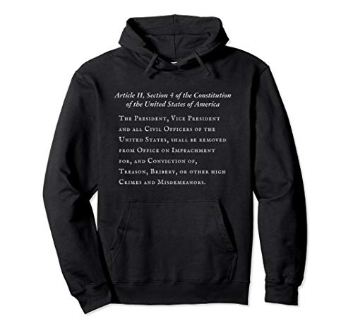 Article II Section 4 of the Constitution of the U.S.A. Pullover Hoodie