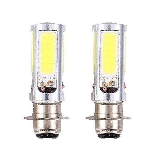 1Pair 6000K White H6M PX15d P15D25-1 COB LED Car Motor Bike/ATV Headlight Fog Light Bulb Lamp White