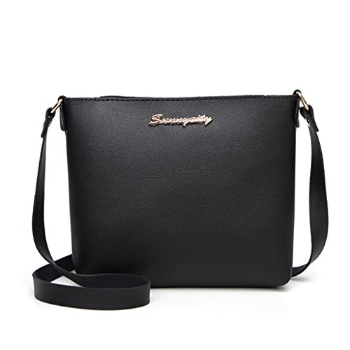 Leather Crossbody Women Color Messenger Solid Zipper Fashion Ladies Phone Bag Bag Black Bag Muium Coin BaZR8qwZ