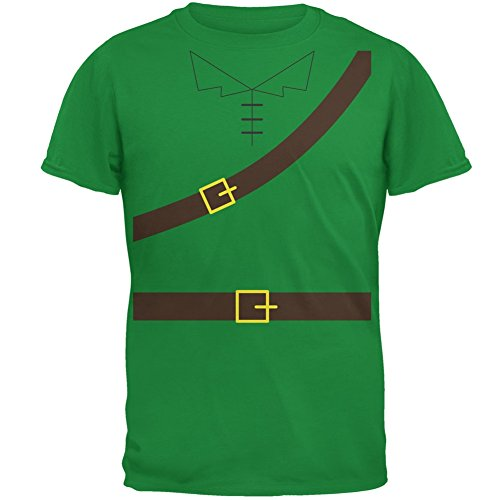 Robin Costume Design (Halloween Robin Hood Costume Irish Green Adult T-Shirt - Large)