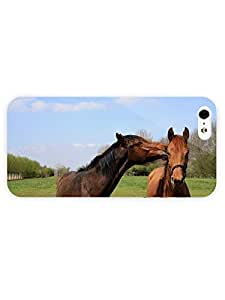 3d Full Wrap Case for iPhone 5/5s Animal Horse Kiss